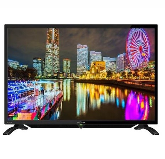 Sharp 40 inch Full HD LED TV , Black - LC-40LE185M