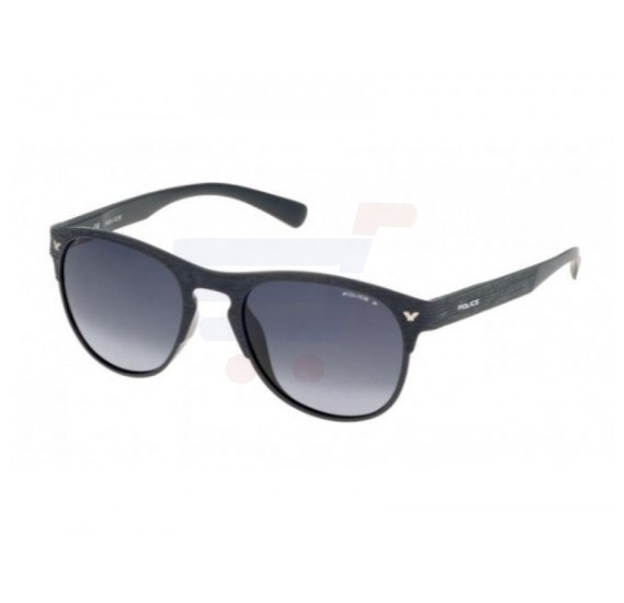 Police Aviator Grey Frame & Blue Gradient Mirrored Sunglasses For Men - S1949-W87P
