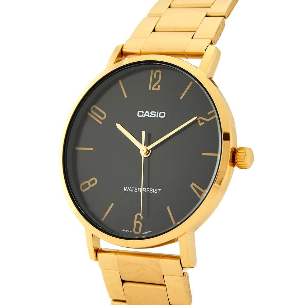 Casio MTP-VT01G-1B2UDF Analog Watch For Men, Gold