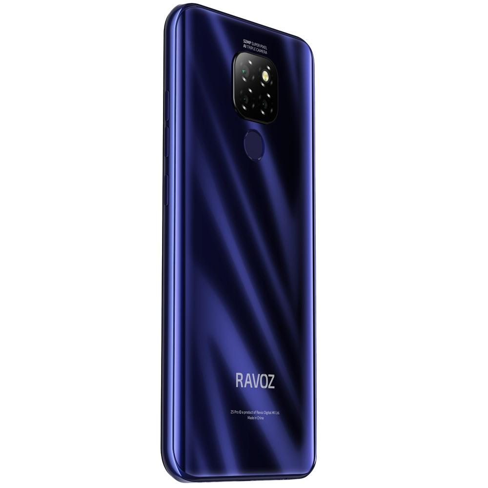 Ravoz Z5 Pro Dual SIM 4GB RAM 64GB Storage 4G LTE, Glossy Purplish Blue