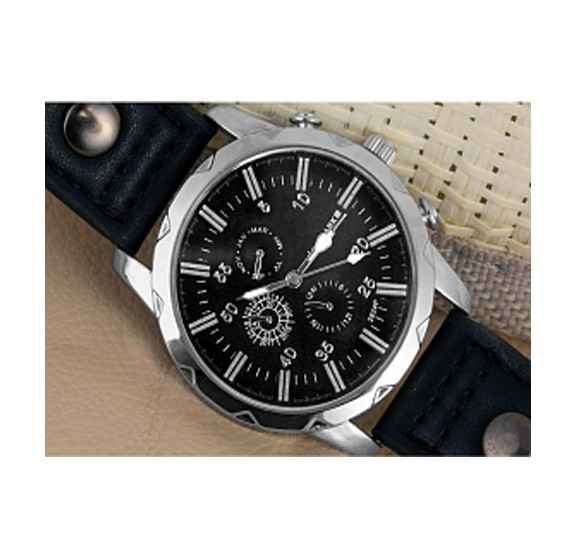 Swissmark Analog Trendy Sports Leather Watch For Men,SMW-116