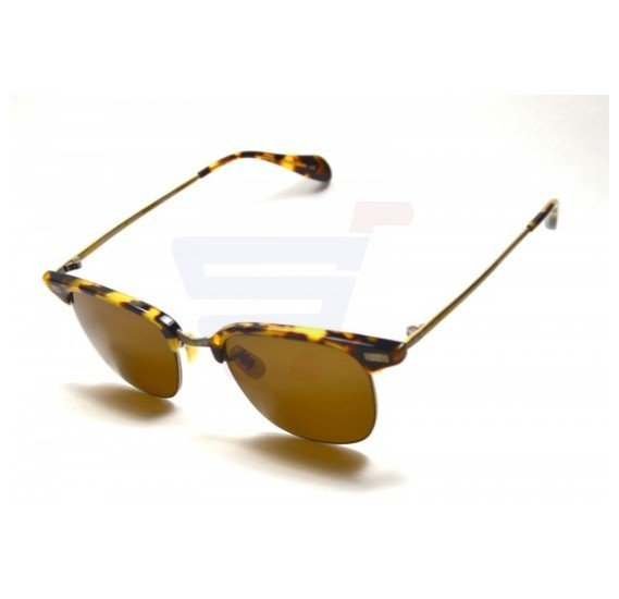 Oliver Peoples Oval Brown Frame & Brown Mirrored Sunglasses For Unisex - OV1172ST-1155/3