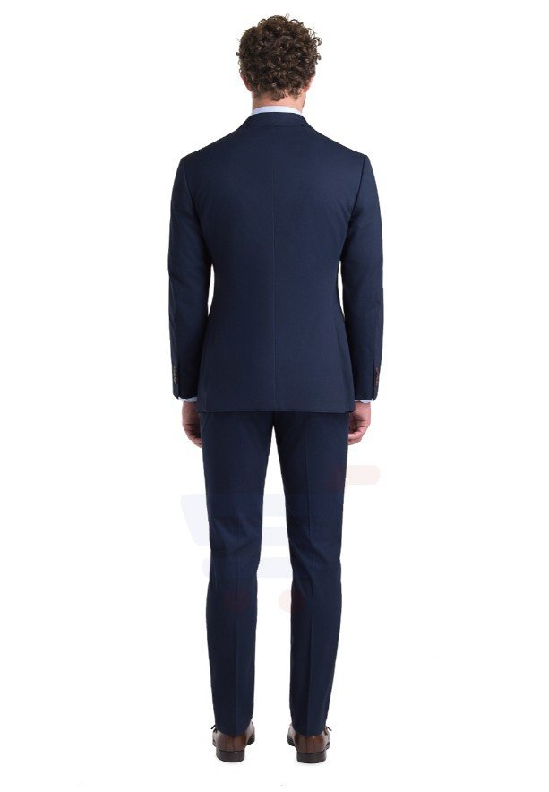 D & D Navy Cotton Suit Hero - 55010 - S - 34