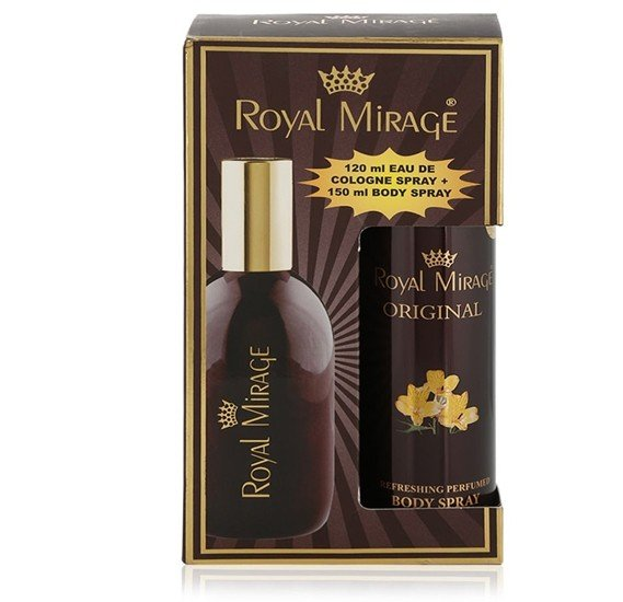 Royal Mirage Original 2 in 1 Gift Set, 120 ml Spray Plus 150 ml Body Spray