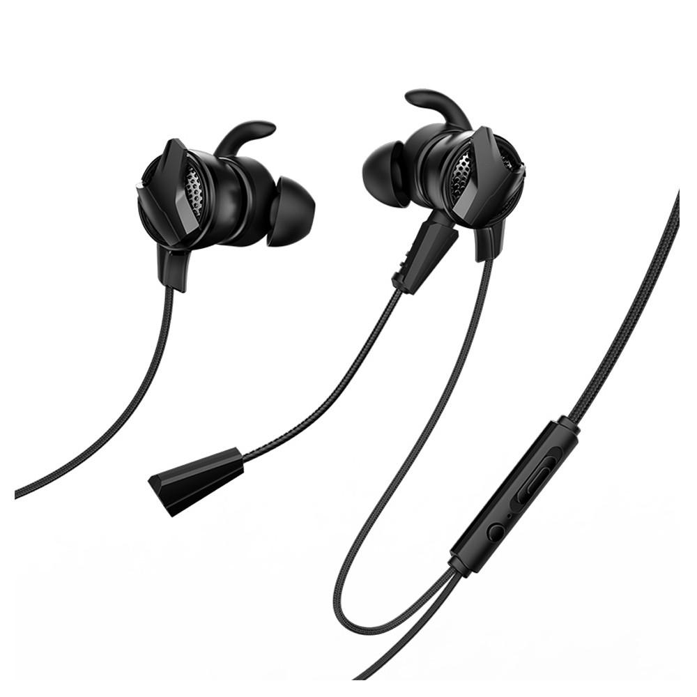 Baseus GAMO C15 Type-C Earphone HiFi Stereo Wired Control Gaming Headphone with Dual Mic - Red+Black