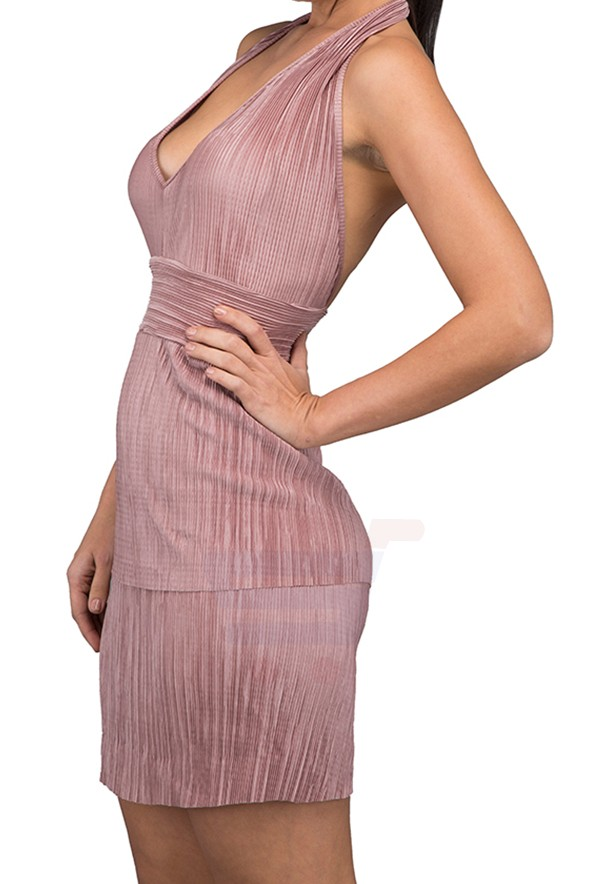 WAL G Italy Open Party Dress Bronze - WG 6836 - XL