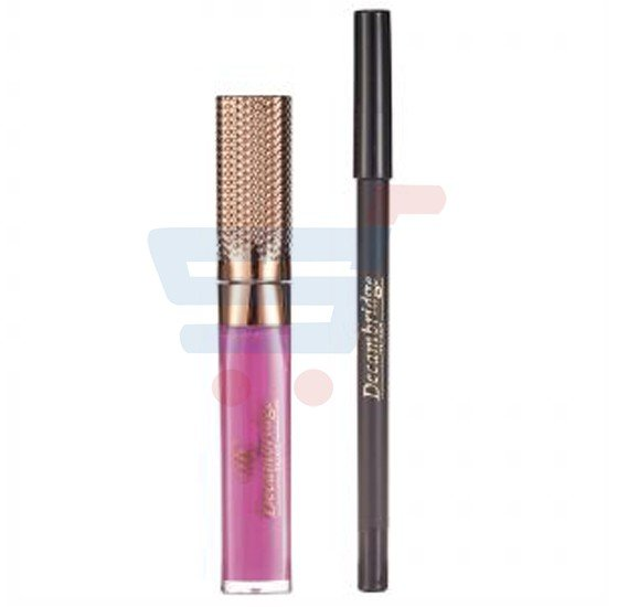 Decambridge Purple Matte Liquid Lipstick and Lip Liner, LP17