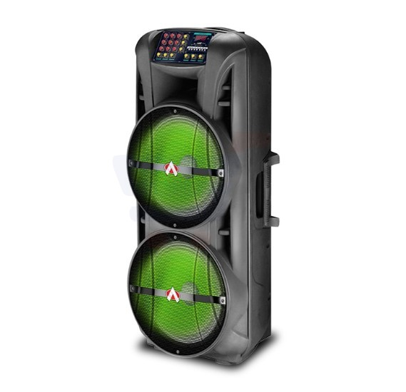 Audionic 15 inches 2 Karoke Trolley Speaker - MH-1515