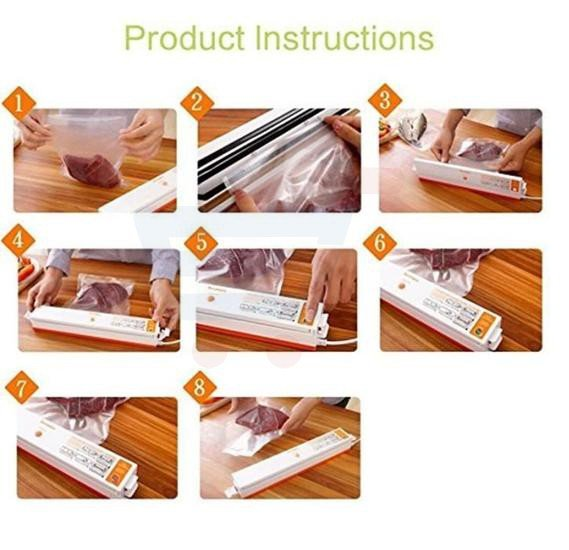 Packaging freshness pro easy food saver vacuum sealer packing sealing machine for food bag, with 15 Vacuum Sachets