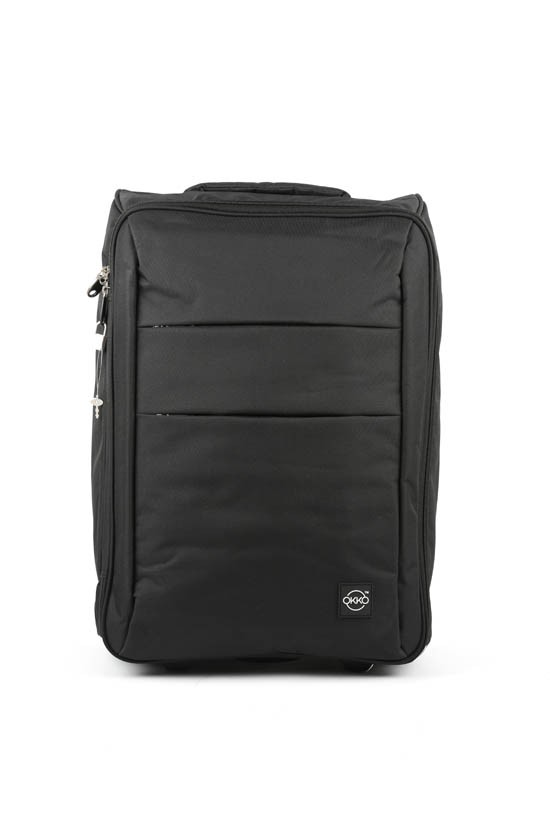 Okko 2in1 Foldable trolley with laptop bag -Black-36422