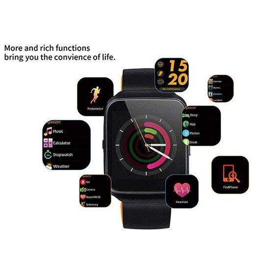 X7 Bluetooth Smartwatch Fitness Tracker Colour Display Touchpad Heart Rate Monitor Waterproof Wristbands Bracelet