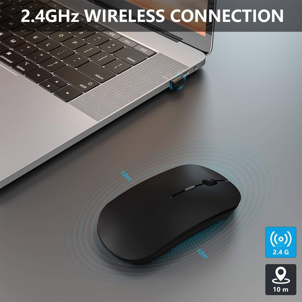 Wireless Optical Bluetooth 2.4Ghz 4D Gaming Mouse -Assorted