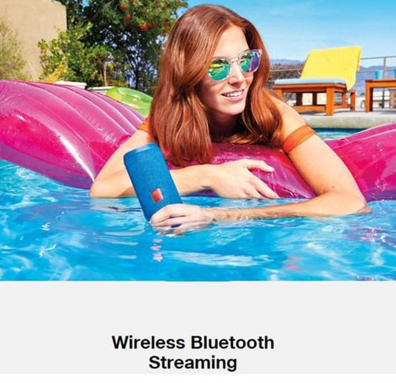 Flip 4 Portable Rechargeable Wireless Bluetooth Multi-Colour Super Bass Stereo Speaker with Aux, Micro SD ,USB Flash and FM Radio Supprt