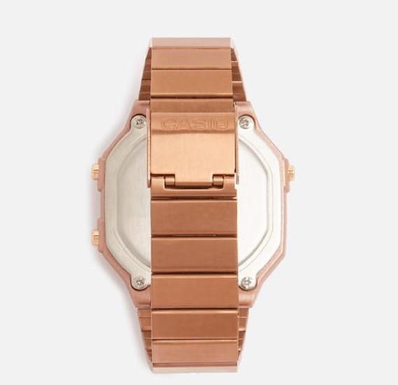 Casio Digital wrist watch Stainless Steel Rose Gold B-650WB-1BDF