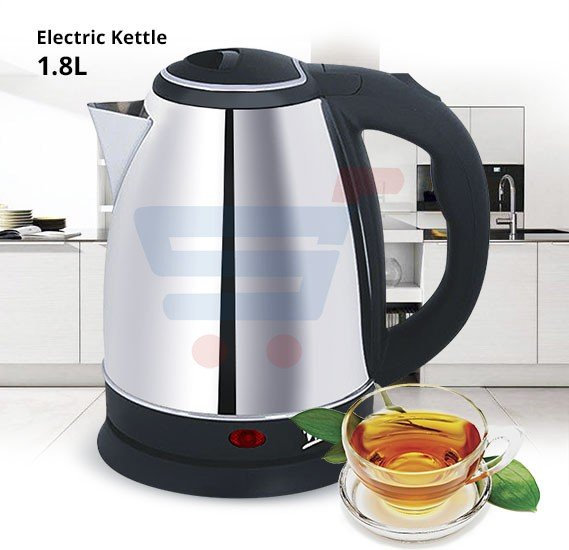 Electric Kettle 1.8 Litre, Wtrtr Stainless Steel Body 1500 Watts WTR268C