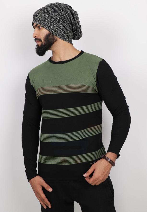 Score Jeans Mens Sweater Full Sleev Green - HF542 - L