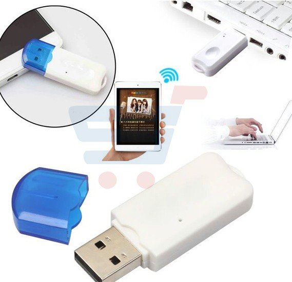 USB Wireless Bluetooth Dongle Streaming Music Receiver Data Transfer Adapter Plug and Play any USB Devices