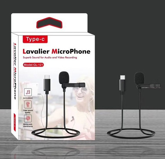 Lavalier GL121 Microphone for USB Type C Ports
