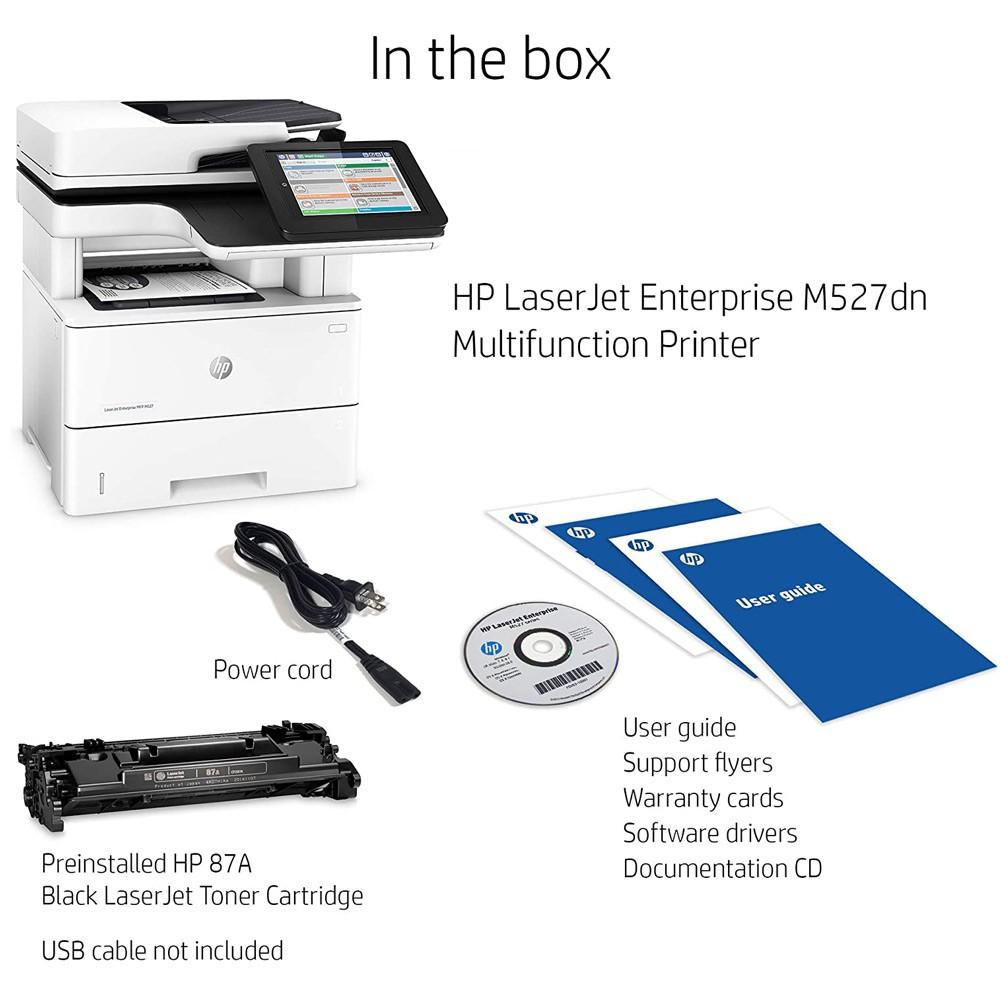 HP LaserJet Enterprise MFP M527dn All-in-One Monochrome Laser Printer