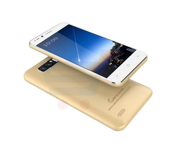 Crescent Wing 8 4G Smart Phone, 5 Inch HD Display, Android 6.0 OS, 1GB RAM, 8GB Storage, Dual SIM, Dual Camera - Gold