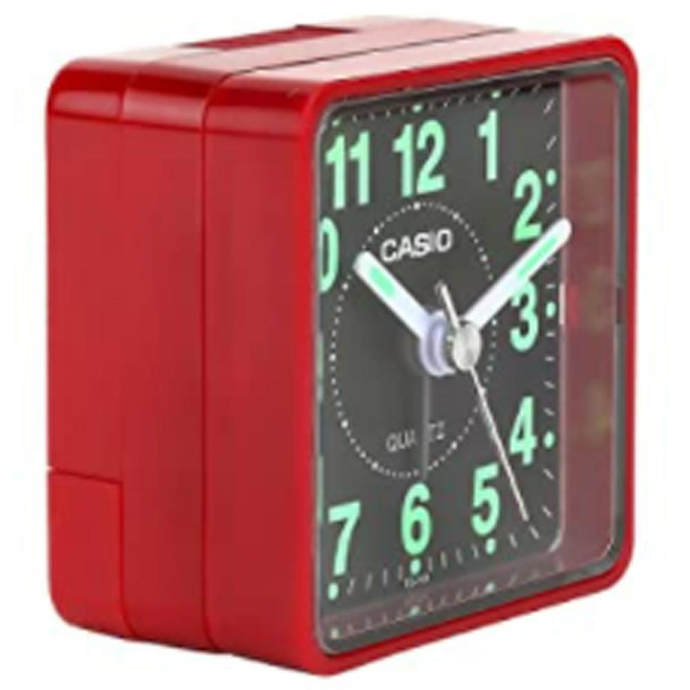 Casio TQ-140-4BDF Analog Table Clock, Red