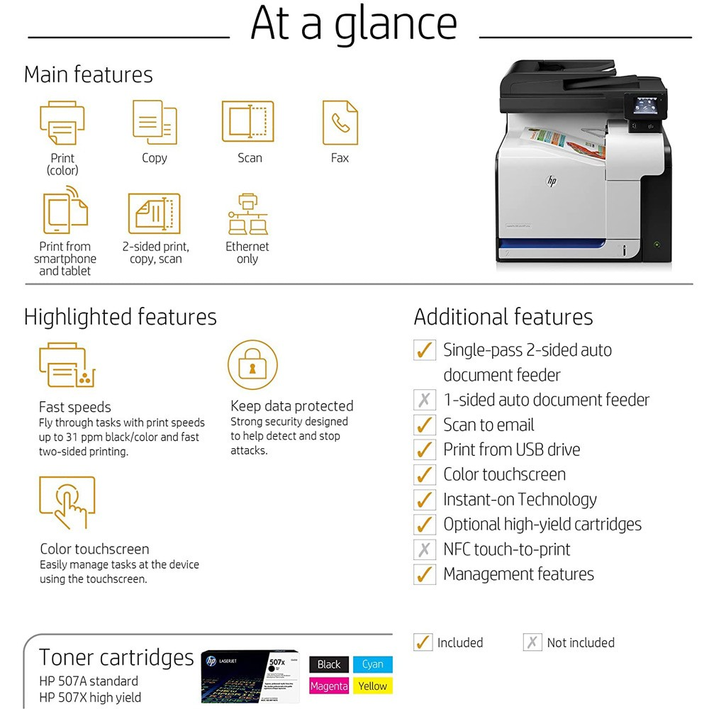 HP Color Laserjet Pro MFP M570DN Printer