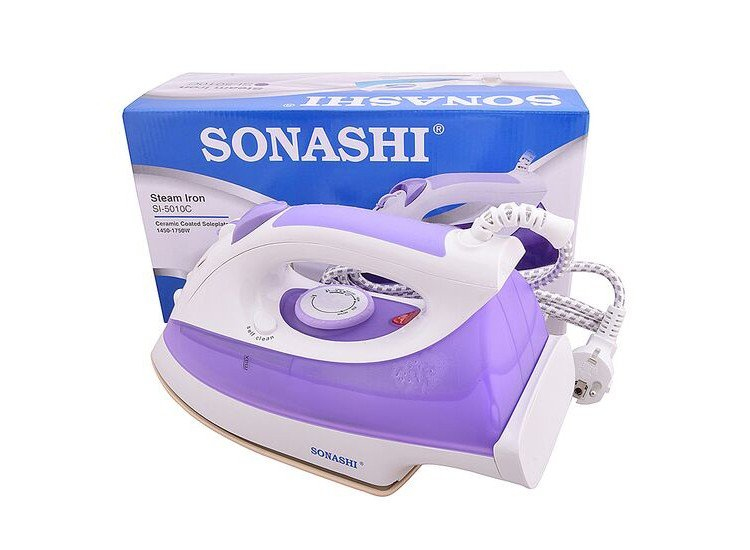 Sonashi SI 5010 C(VDE) Steam Iron With Ceramic Sole Plate Steam Iron, 1600w, Sea Green & Purple Color