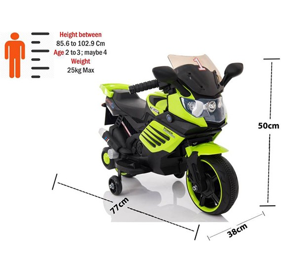 Al Taraf Rechargeable Kids ride on Scooter 158Q Green