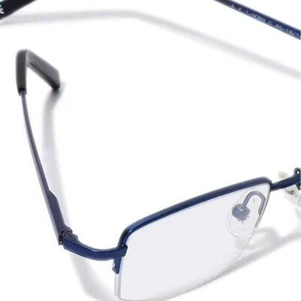 2 In 1 EyeCard Reading Glasses 2.5 Credit Card Size And Jacques Lemans Womens Rectangular Eyeglasses Frame, JLF 1-5089 C