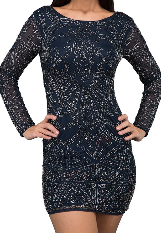 TFNC London Brooklyn Party Dress Navy - ANQ 13070 - L