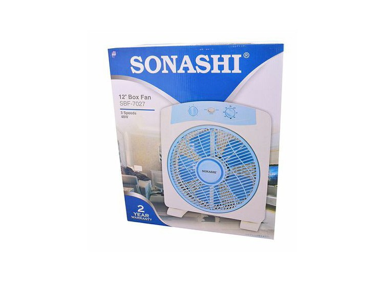 Sonashi SBF-7027 Box Fan, 12 Inches
