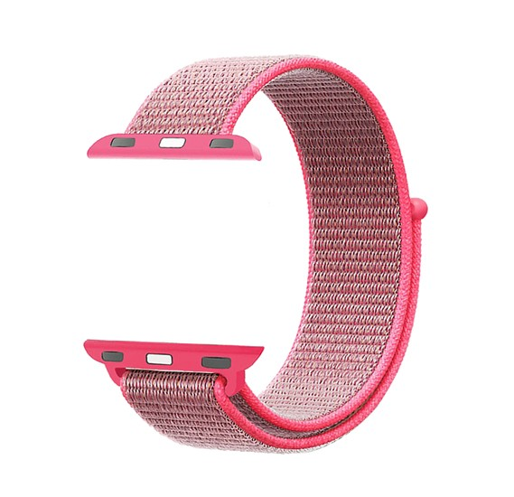 Promate Fibro-42  Watchband Strap for Apple Watch 42mm/44mm, Pink