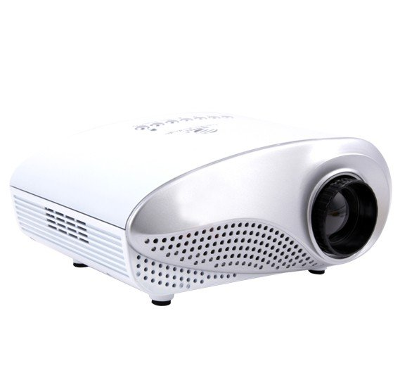 BSNL A77 Mini LED Projector, White