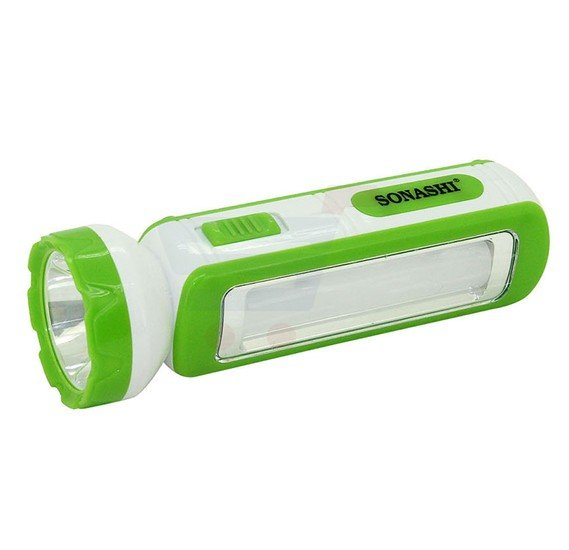Sonashi 2 In 1 Rechargeable Led Torch With Lamp Green SPLT-114