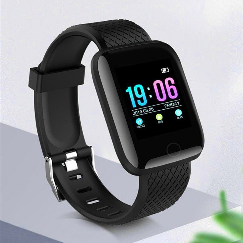 3 IN 1 Bundle Offer D13 Smart Watches 116 Plus Heart Rate Watch Smart Wristband Sports Watch Android, Level Wireless Bluetooth Neckband Headset with Mic And TG113 Bass Splashproof Wireless Bluetooth Speaker
