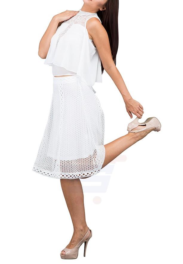 TFNC London Bartha Midi Skirts White - CTT 56230 - L