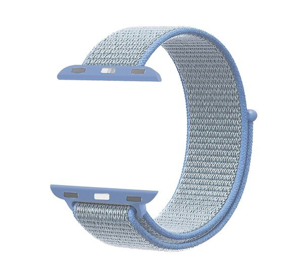 Promate Fibro-38 Sports Loop Band for Apple Watch 38mm/40mm, Light-Blue