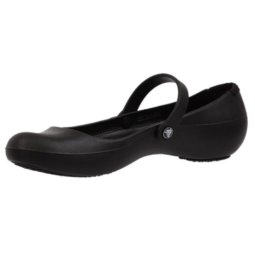 Crocs Womens Clogs Pump Shoes Alice Work Black, Size 37