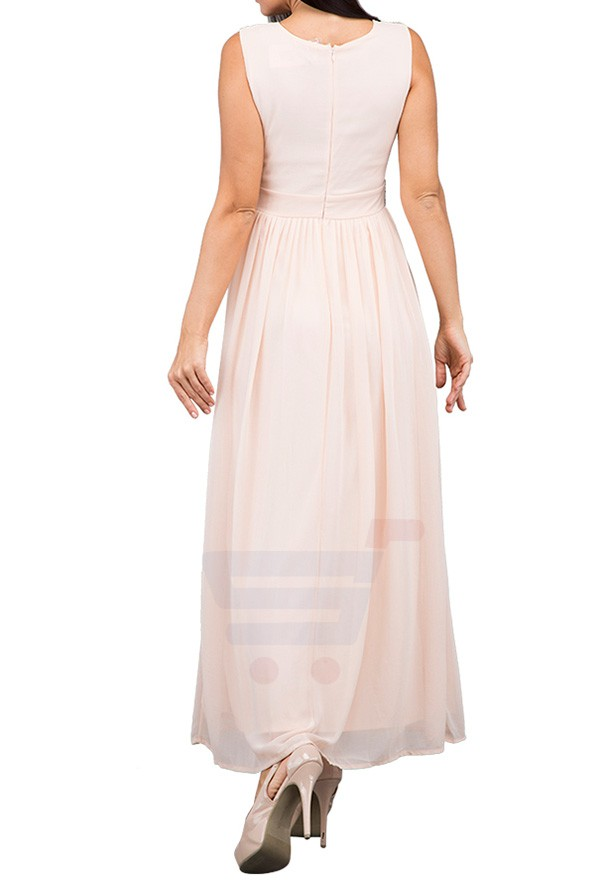 TFNC London Tina Maxi Evening Dress Peach - ANQ 16470 - L