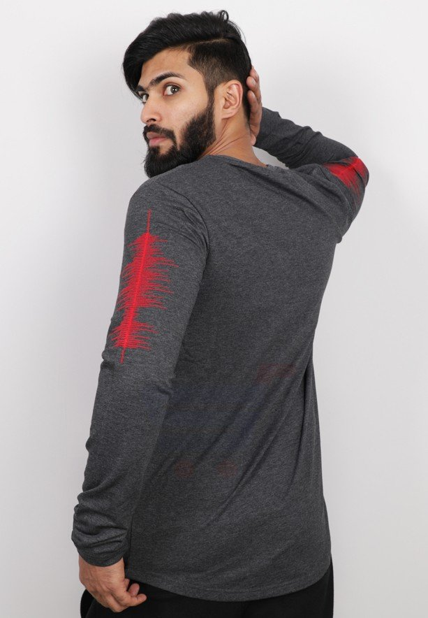 Saw Mens Full Sleeve Tshirt Grey - 1013 - M