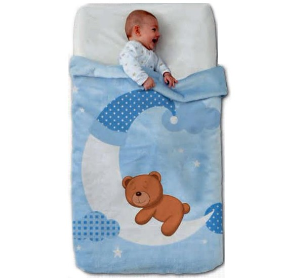 Double ply cartoonic baby blanket for children, Age 1 - 7, Citylight