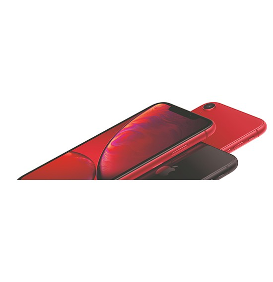 Apple iPhone XR, Dual SIM, 128GB, 3GB RAM, 4G LTE, Red.