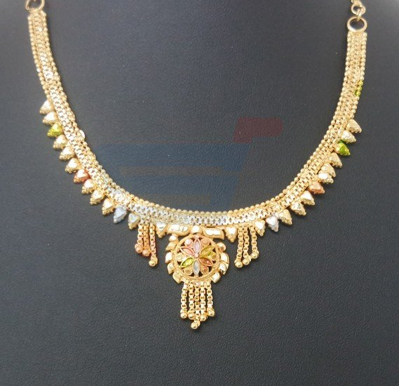 Harsha Arts 22K Gold Plated Necklace Set-HR 1247
