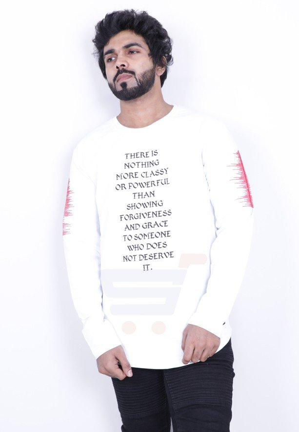 Saw Mens Full Sleeve Tshirt White - 1013 - M