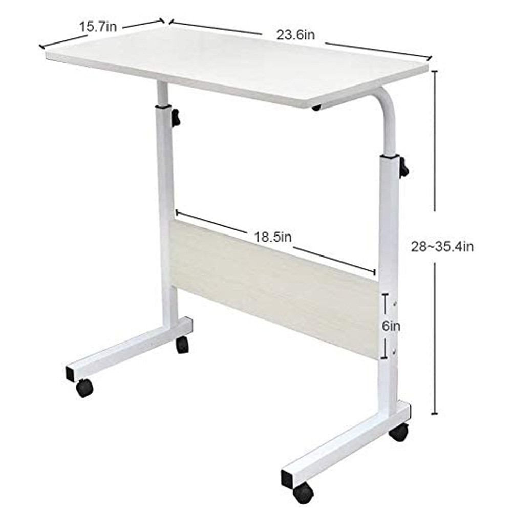 Laptop Table Desk Stand Mobile Computer Workstation Height Adjustable with Rolling Wheel And HP Mini 5101 Laptop, 10.1 inch Display, Intel Atom, 2GB RAM, 250GB HDD Win7, Refurbished
