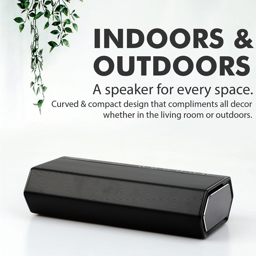 Promate Portable Wireless Speaker, Premium Stereo Sound 40W Bluetooth Speaker with Powerful 20W Subwoofer, MAESTRO.BLACK