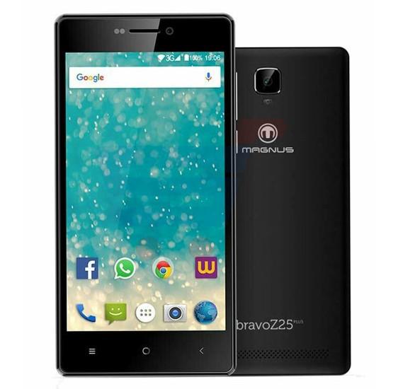 Magnus Bravo Z25 Plus Smartphone, Android, 5.0 Inch Display, 16GB Storage, 1GB RAM, Dual Camera, Dual Sim, Wifi Black