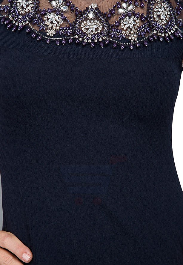 TFNC London Mariah Formal Dress Navy - ANQ 33670 - L