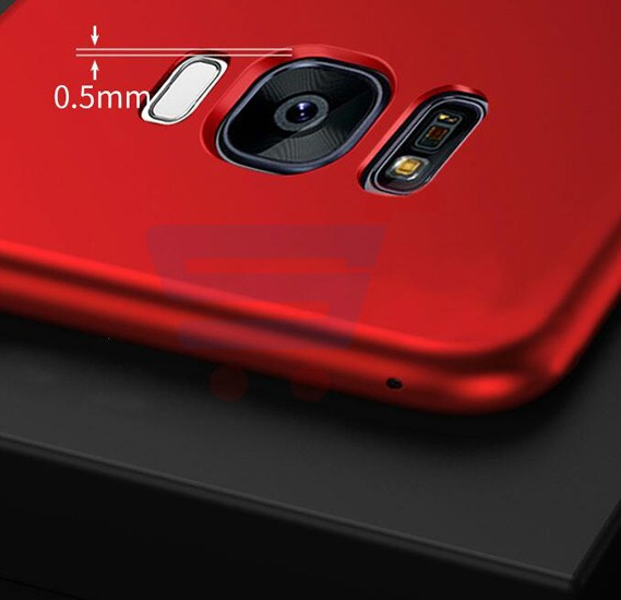 Red Silicone Fashionable Ultra-Thin Soft Back Case For Samsung S8