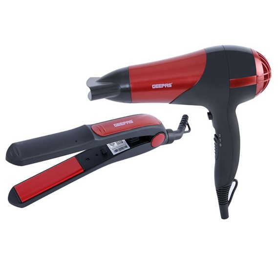 Geepas GHF86036 Combo Hair Dryer And Straightner